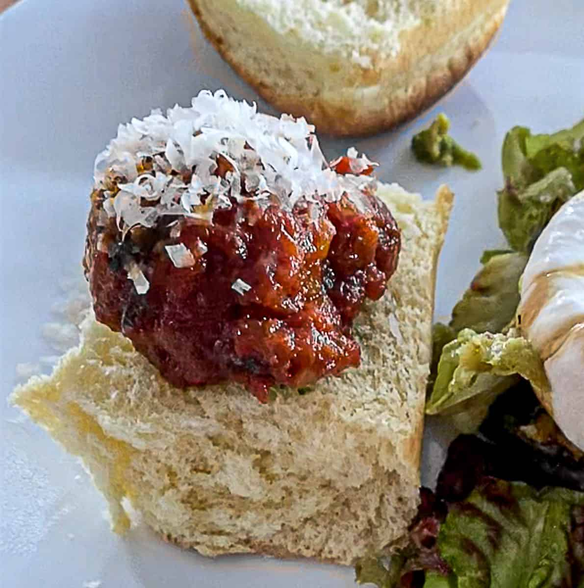 Hawaiian Roll Meatball Sliders Dinner Slow Cooked or Baked