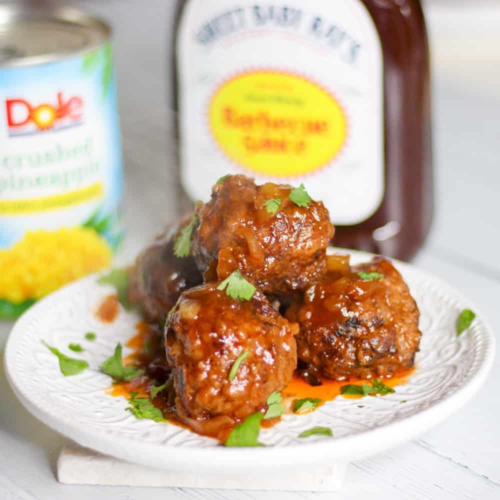 Hawaiian meatballs ground beef recipe for dinner