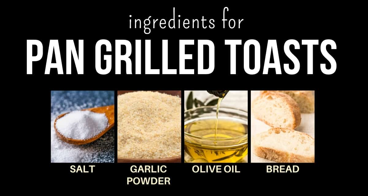 Infographic for hummus toast ingredients with photos and captions