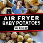 Air Fryer Baby Potatoes image collage with text overlay