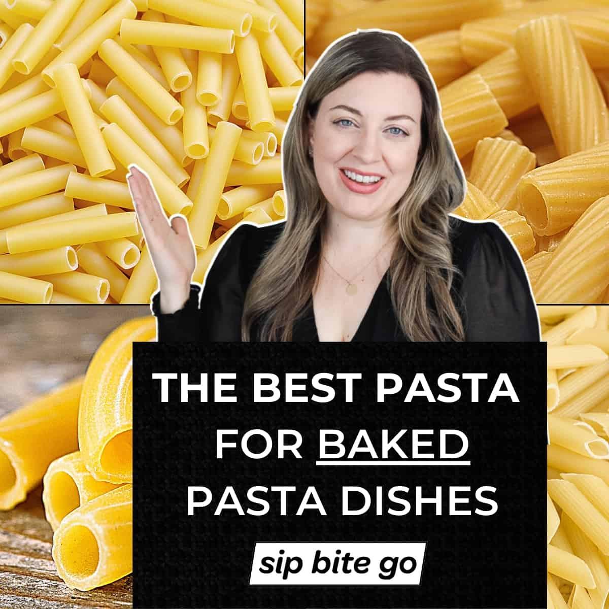Ziti Vs Penne Vs Rigatoni text overlay on pasta shapes collage.