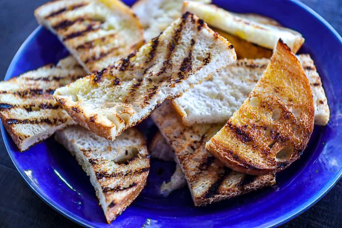 grilled hummus toasts