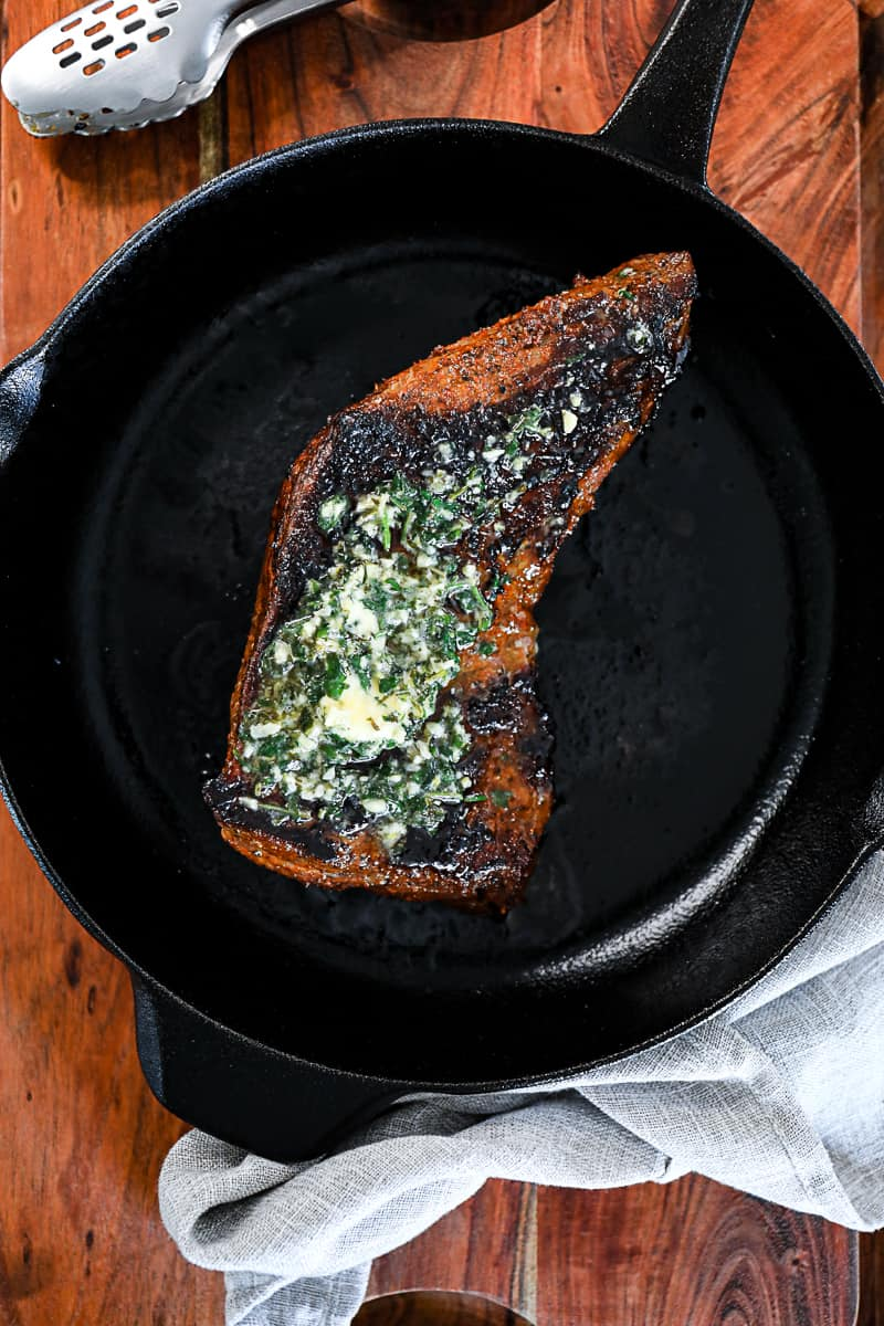 Baked Tri Tip With compound butter
