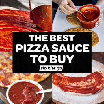 Best Pizza Sauce To Buy At The Grocery Store collage and graphics
