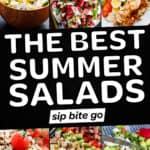 Best Summer Salads Recipes collage with text overlay.