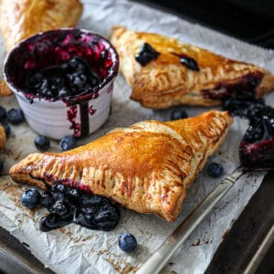 Blueberry Turnovers With Puff Pastry