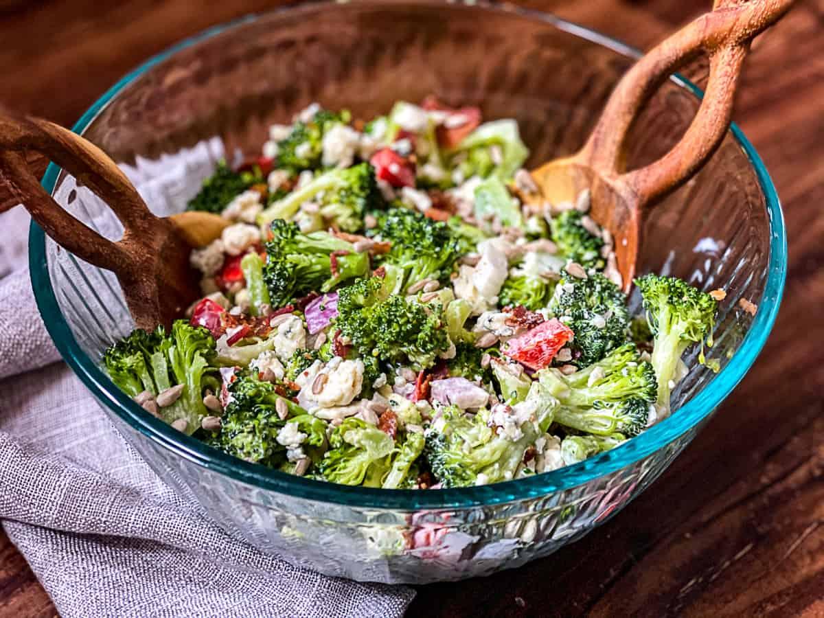 Broccoli Blue Cheese Salad