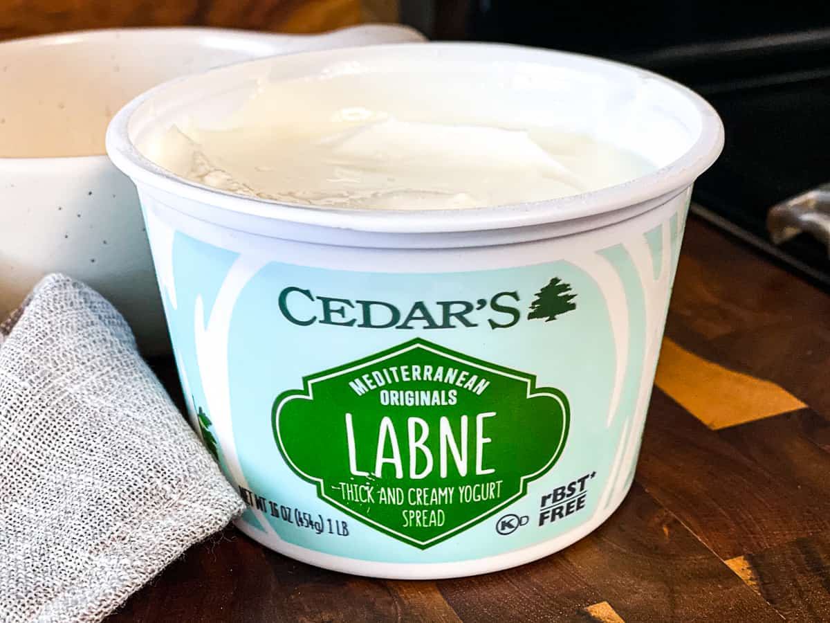 Cedar's Labne store bought labneh yogurt