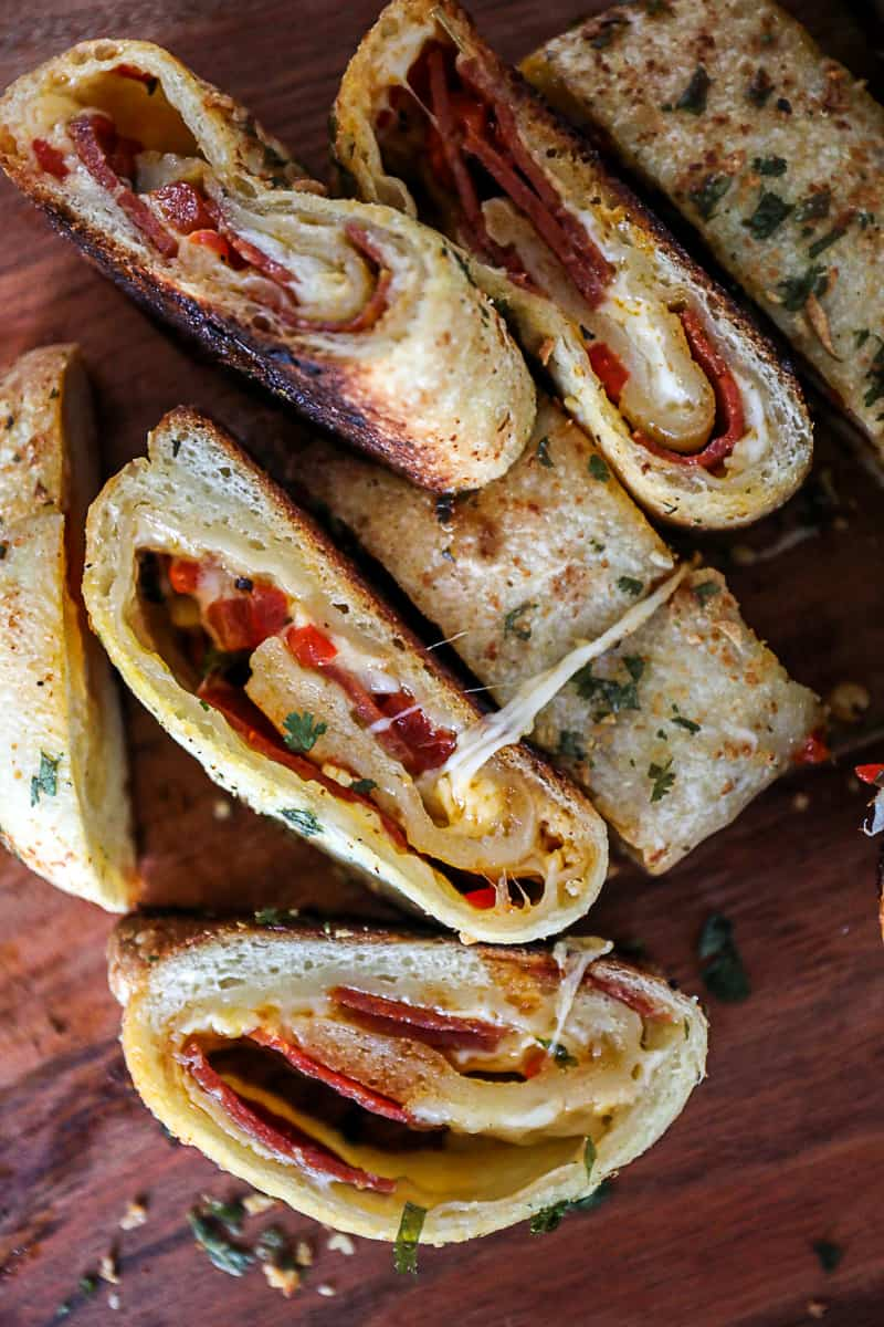 Cheese and Pepperoni Stromboli