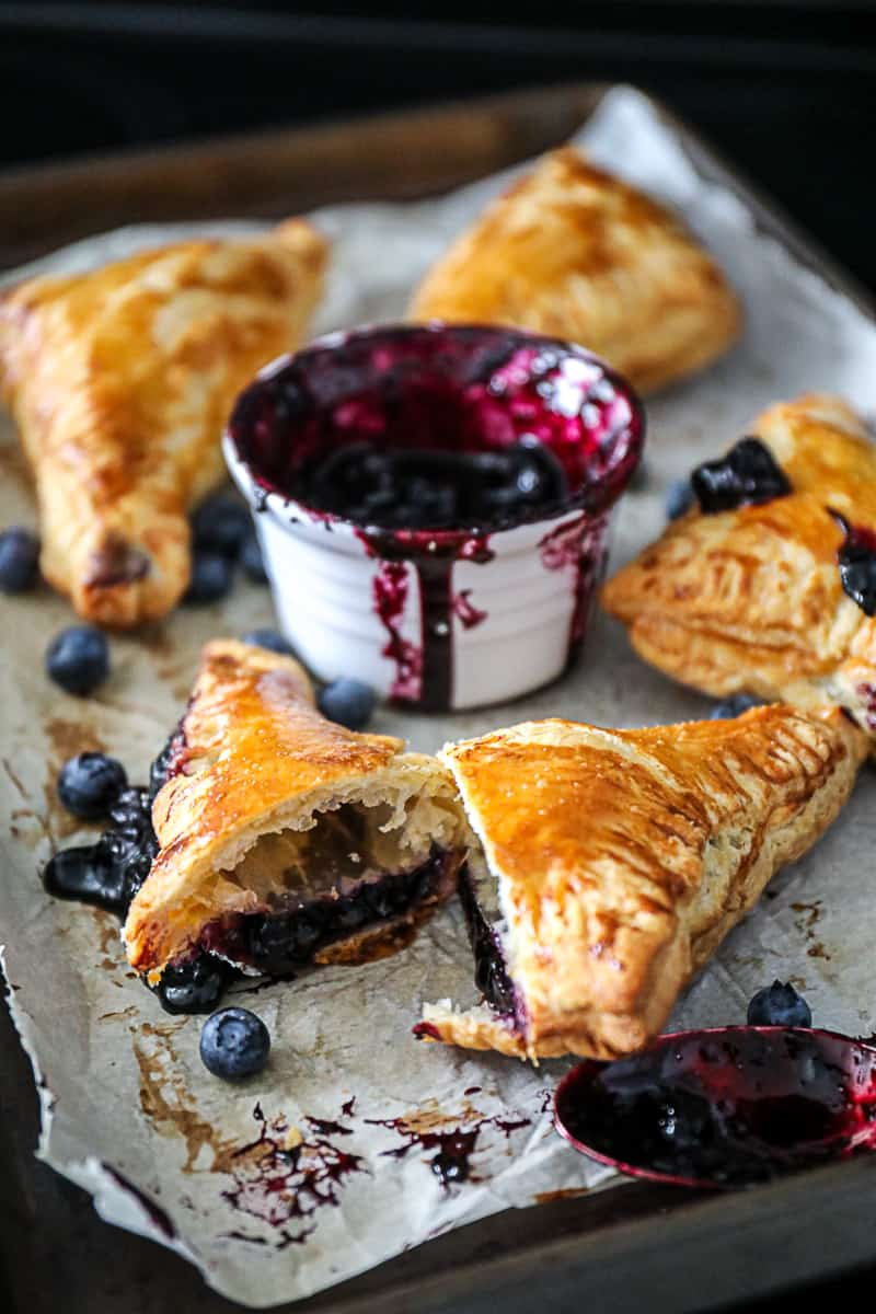 Cooling Puff Pastry Blueberry Turnovers
