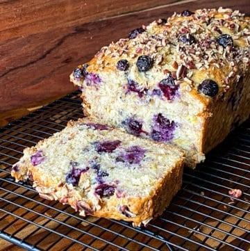 Easy Blueberry Banana Bread With Toasted Nuts