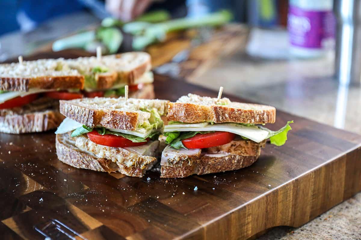 Easy Turkey Avocado Sandwiches With Turkey Leftovers