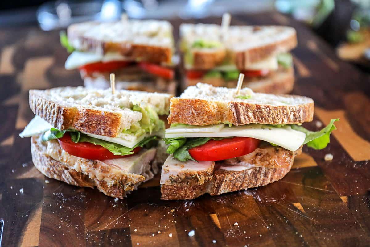 Leftover Turkey Avocado Sandwich.