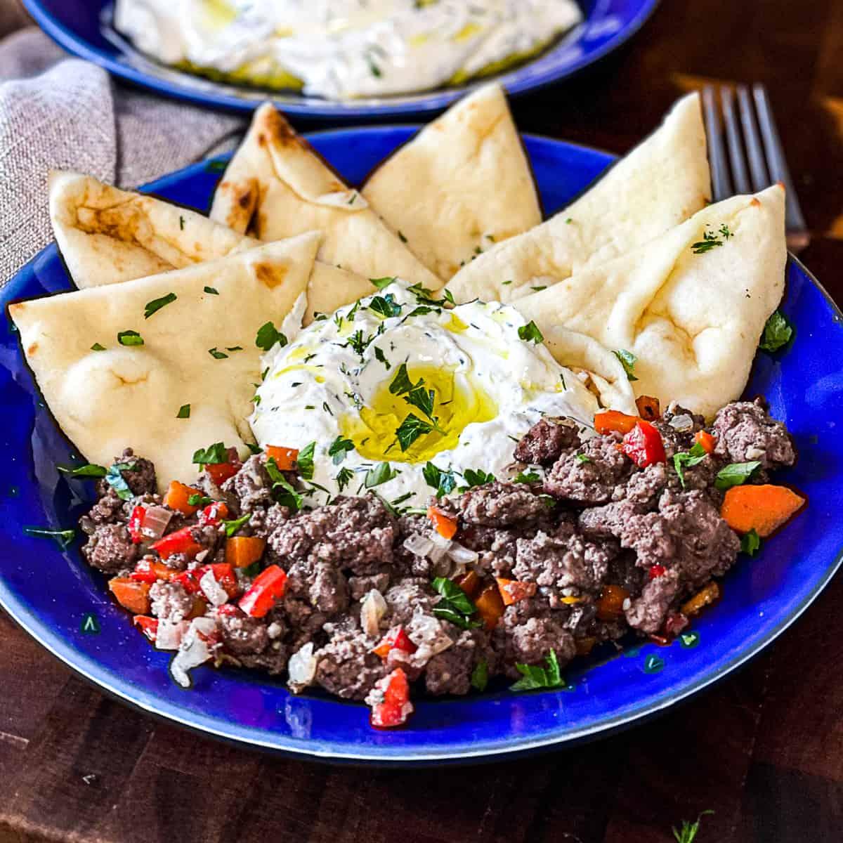 Mediterranean Ground Beef Platter