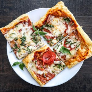 Pizza on Puff Pastry Sheets