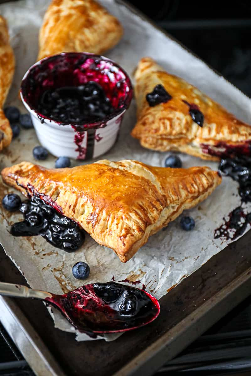 Summer Blueberry dessert turnovers
