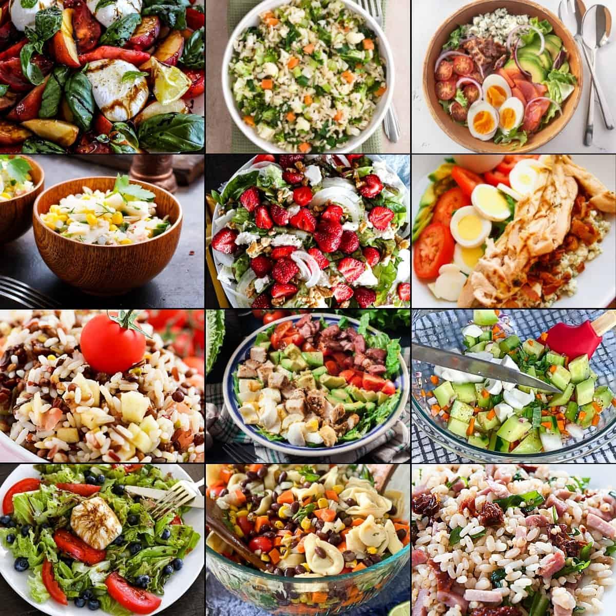 Summer salad recipe ideas collage