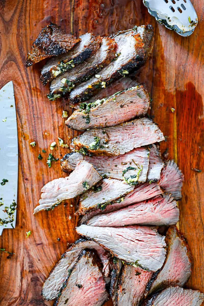 Thinly sliced Tri Tip Oven Baked