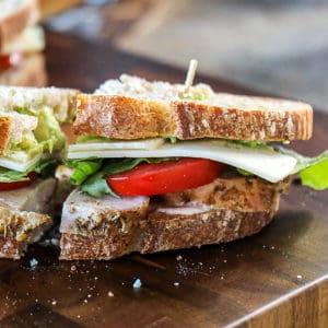 Turkey Avocado Sandwich With Turkey Leftovers.