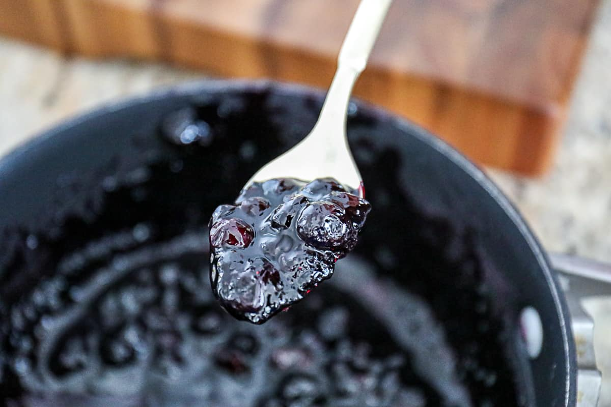 Homemade Fresh Blueberry Compote.