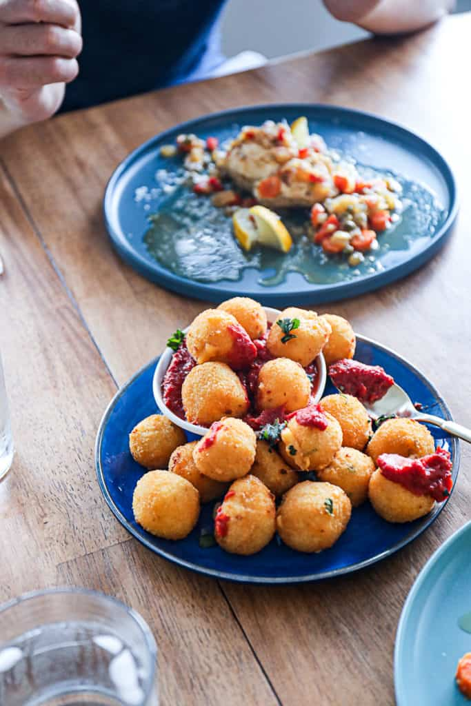 Air Fryer Side Dish with air fried Mac And Cheese Balls