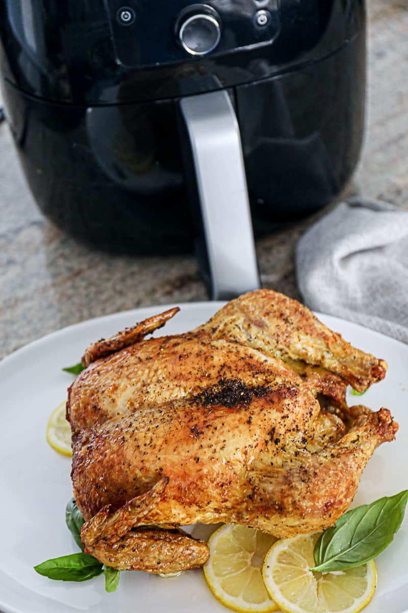 Air Fryer Whole Chicken Recipe with Phillips air frying machine