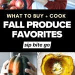 Best Fall Fruits and Vegetables In Season images and text overlay