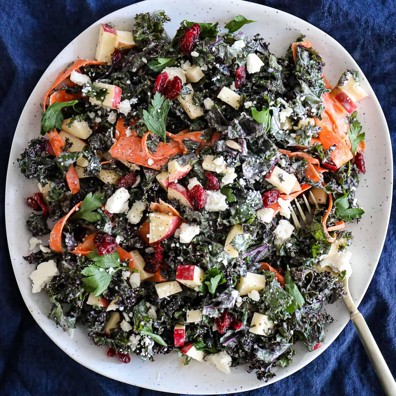 Kale Apple Slaw Salad