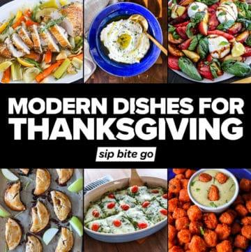 Modern Thanksgiving menu recipe dishes