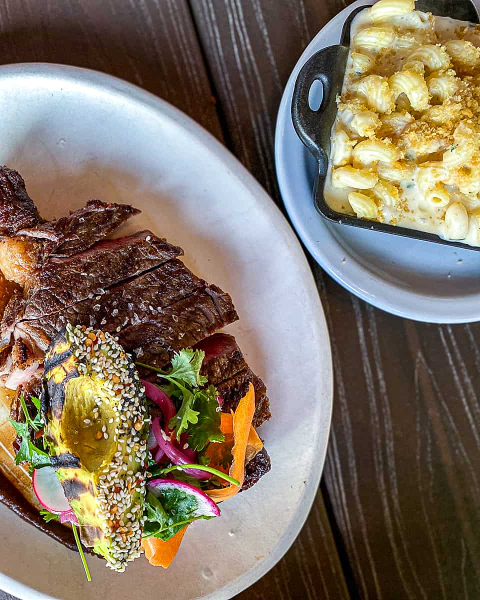 Steak and Mac & Cheese side dish from Laurelhurst Market menu
