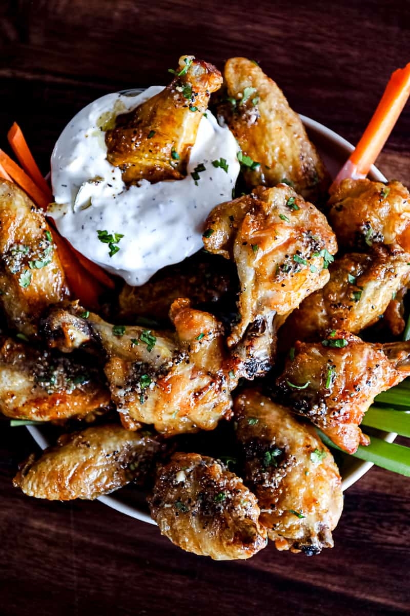 non traditional Thanksgiving wings main dish
