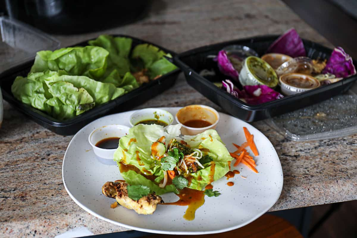 Thai chicken lettuce wraps Cheesecake Factory Menu Food For Delivery