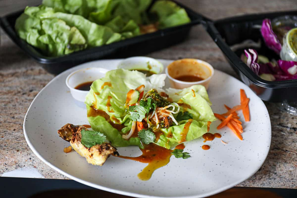 Cheesecake Factory Thai Lettuce Wraps Dish