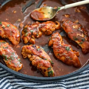 Simmered Chicken Breast With Enchilada Sauce